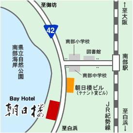 ベイホテル朝日楼周辺地図